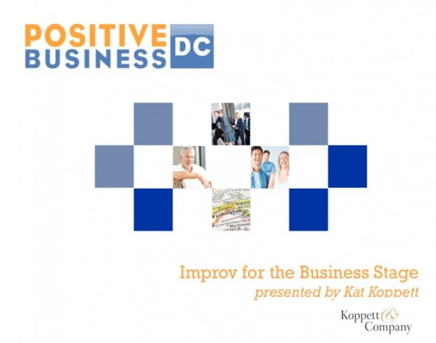 Improv For The Business Stage